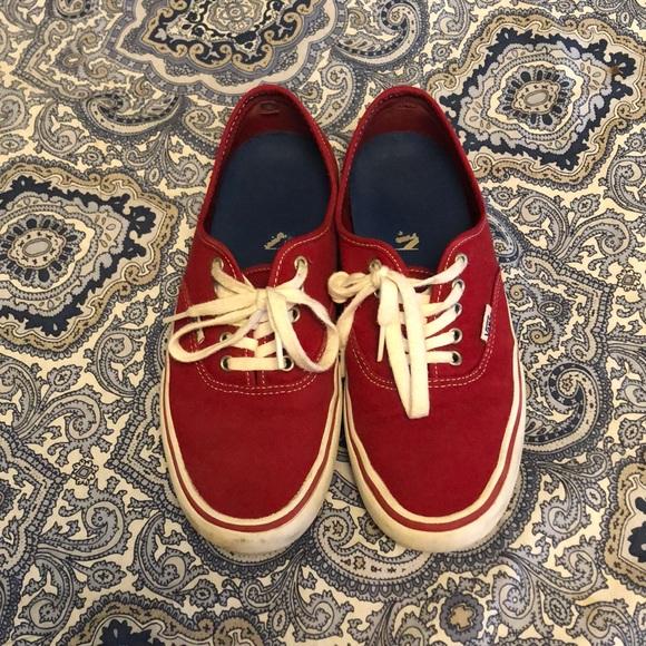 low cut red vans
